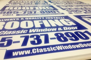 rochester ny yard sign printers
