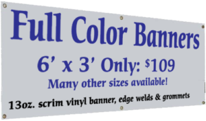 Banner Printing Company In Rochester NY LOWEST PRICES - Vinyl banners with grommets